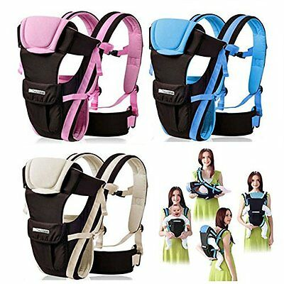 Baby Carrier Newborn Infant Backpack with 4 Positions Carrier (Blue)
