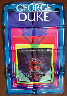 ORIG 1975 GEORGE DUKE - THE AURA WILL PREVAIL PROMOTIONAL POSTER by REILLY BASF