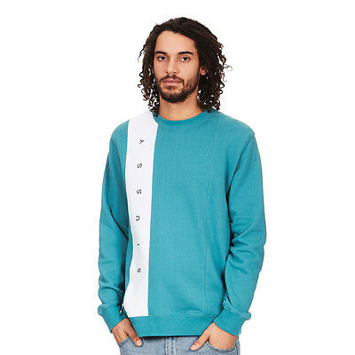 Stüssy - Paneled Crewneck Sweater Teal Pullover Rundhals