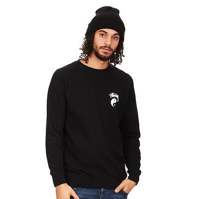 Stüssy - Stock Yin Yang Crew Sweater Black Pullover Rundhals