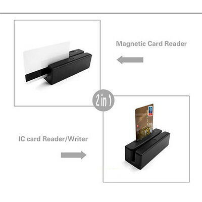 ZCS100-IC 2-in-1 USB Credit Card Reader Magnetic Read+EMV IC Chip Reader/Writer
