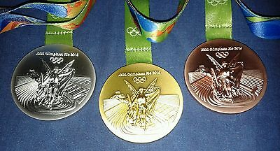 2016 Brazil Rio Olympic Gold/Silver/Bronze Medals Xmas Party Games Full Set of 3