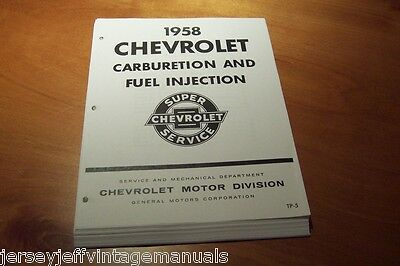 1958 Chevrolet Carb Fuel Injection Corvette Carter 4bbl WCFB  WCFB Rochester GM