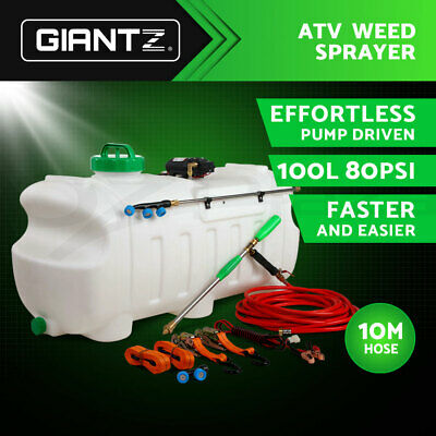 Giantz 100L 12V ATV GARDEN FARM WEED SPRAYER PUMP CHEMICAL SPOT SPRAY WATER TANK