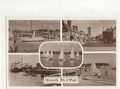 Yarmouth Isle of Wight Vintage RP Postcard Merwood 721a