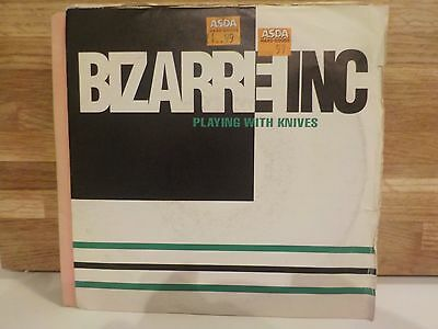 """Bizarre Inc Playing With Knives / Plutonic Classic Dance House Pop 1991 7"""" Vinyl"""