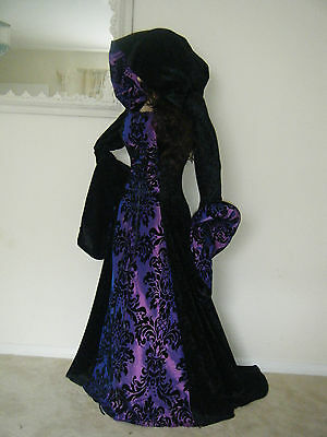 Medieval Renaissance Hooded Gothic Pagan Dress Gown Game Of Thrones S/m/l/x