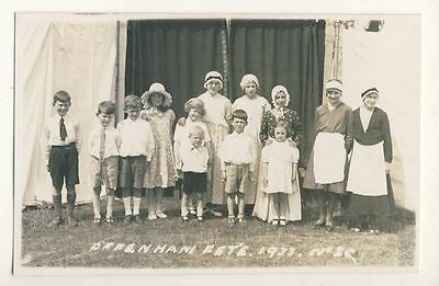 Offenham, Worcestershire, Children at Fete, 1933, Rp