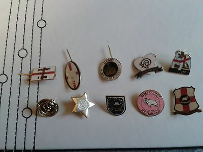 10 Derby County Pin Badges - Football Badge