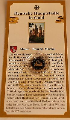 Medaille Mainz - Dom St. Martin 585 Gold PP