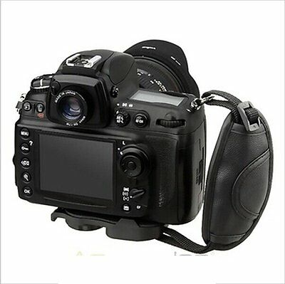 PU Leather Padded Hand Grip Wrist Strap for Camera Canon EOS Nikon SLR DSLR New