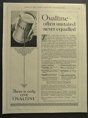 1930s advert for OVALTINE tonic food beverage food advertising 1932