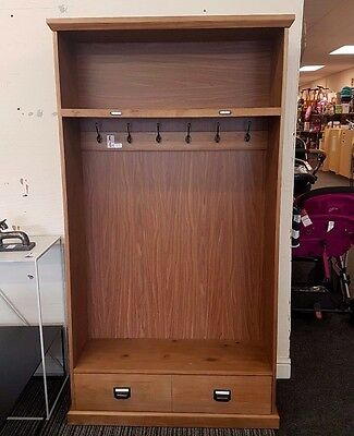 Lindley Solid Pine Coat Hall Stand Built & On Display Collect Only