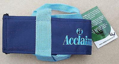 ACCLAIM Chatton Bowls Carrier Four Bowls Bowling Sling Navy Sky Blue Marked E