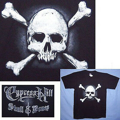 Cypress Hill! Skull And Bones Black T-Shirt Large New!