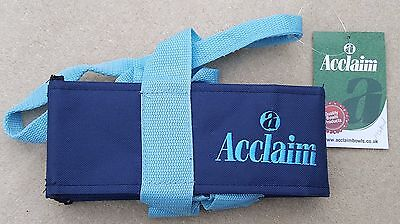 ACCLAIM Chatton Bowls Carrier Four Bowls Bowling Sling Navy Sky Blue Marks