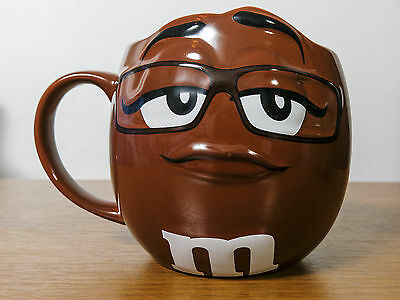 m&m Large barrel Mug / Cup m&ms World Brown Chocolate Collectable