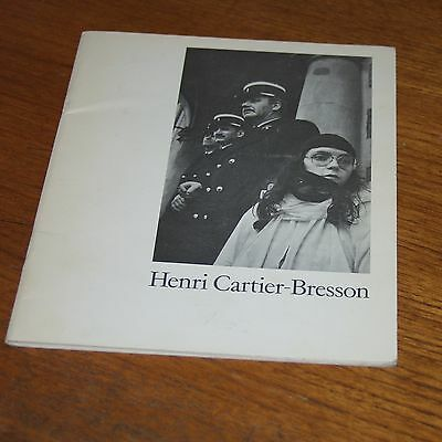 Henri Cartier-Bresson catalogue for Scottish Arts Council Exhibition 1978