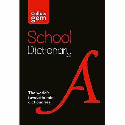 Collins Gem School Dictionary: Trusted support for lear - Paperback NEW Collins
