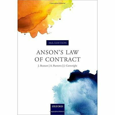 Anson's Law of Contract - Paperback NEW Sir Jack Beatso 19-May-16