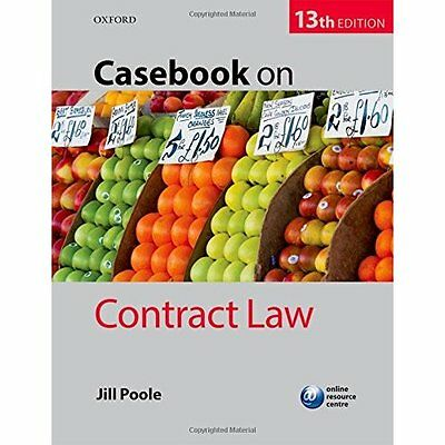 Casebook on Contract Law - Paperback NEW Jill Poole (Aut 4 Aug. 2016