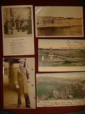 5 Vintage RP Boer War Related to Battle Of Colenso Postcards early 1900s