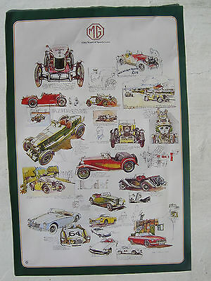 Mg M Type,tc,td,tf,mga,mgb,midget,genuine Original Factory Issued Poster.unused
