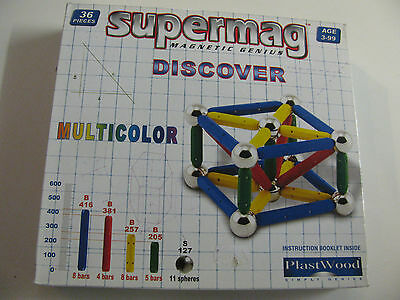 SUPERMAG Magnetic Genius Discover Multicolor - 36 Teile - 0067 -  **OVP**