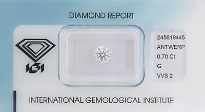 Diamant 0,70ct G VVS 2