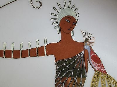 Art Deco Erte Plate By Franklin Mint Called Diva --Perfect