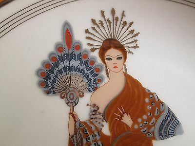 Art Deco Erte Plate By Franklin Mint Called Athena --Perfect