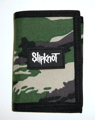 Slipknot! Embroidered Nylon Camo Tri-Fold Wallet New!
