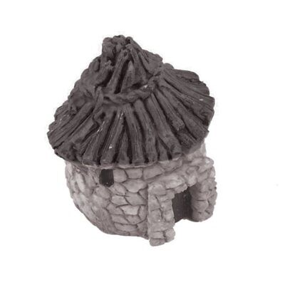 Aquarium Fish Tank Quaint Thatched Cottage Ornament - By DIGIFLEX