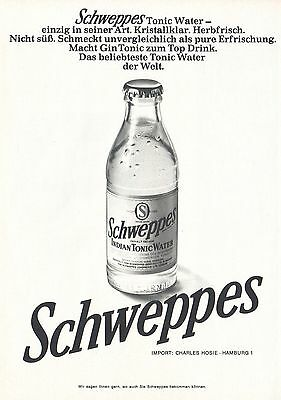 1968 Print Ad Schweppes Crystal Clear Indian Tonic Water