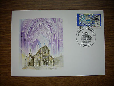 1998  Carte  1Er Jour  Cathedrale De Chamberry