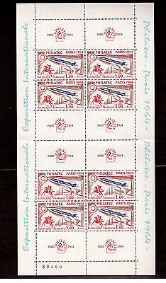 France 1964 # 1100 Sheet Of 8 Philatec Exhibition Mint Vf Nh !!2