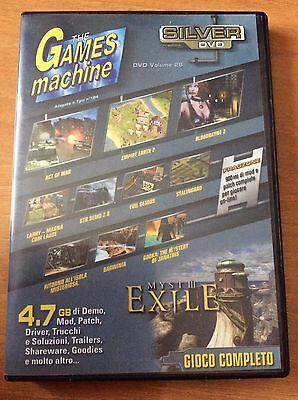 THE GAMES MACHINE SILVER DVD gioco completo per PC MYST III EXILE  e altro..