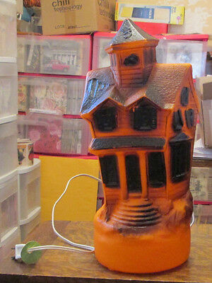 OLD VINTAGE 1969 Empire Plastic Blowmold Haunted House light up Halloween lite