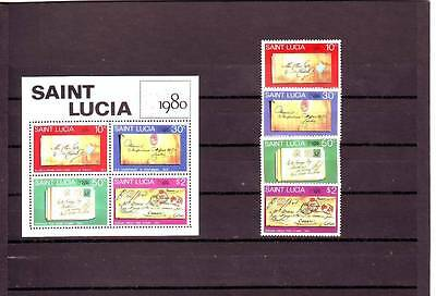 a118 - ST LUCIA - SG519-MS523 MNH 1980 LONDON 1980 STAMP EXHIBITION