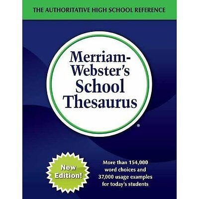 Merriam-Webster's School Thesaurus: Designed for Studen -  NEW Merriam Webster 2