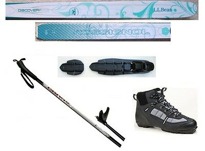 NEW ROSSIGNOL Women's NNN CROSS COUNTRY SKIS/BINDINGS/BOOTS/POLES PACKAGE -160cm