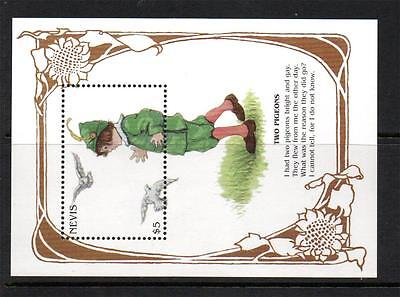 Nevis Mnh 1997 Ms1080 300Th Anv Of Mother Goose Nursery Rhymes Mini Sheet