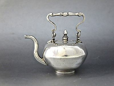 18th c. DUTCH SILVER MINIATURE TEA KETTLE Amsterdam 1736