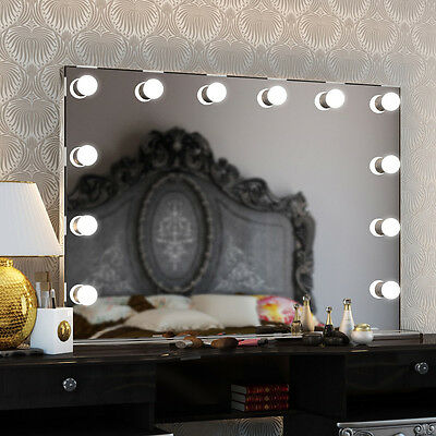 Diamond X Collection Sin marco Ancho LED Hollywood Espejo 253