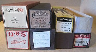 8 Lot ~ Player Piano Rolls Mixed Lot # 9