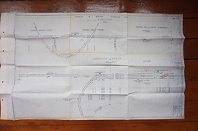1972 Rowsley Buxton Extension Line Railway Track Plan Dove Holes Chapel Link