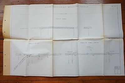 1973 Leicester Knighton to Burton On Trent Railway Track Plan