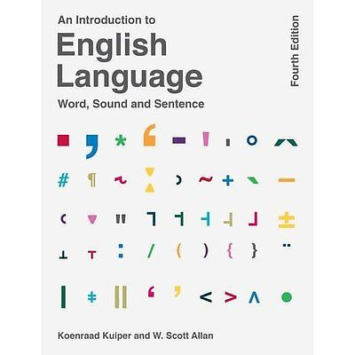 An Introduction to English Language - Paperback NEW Koenraad Kuiper 17 Nov. 2016