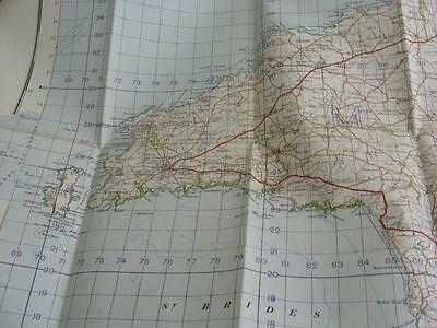 1949 Map Fishguard Haverfordwest Milford Haven St Davids military map good