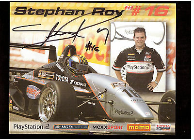 Canadian Racing Driver Stephan Roy Autographed Photo-Card !!
